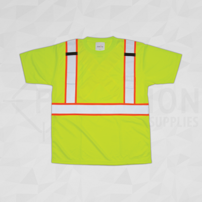 CSA Compliant Traffic Safety T-Shirt Lime Yellow