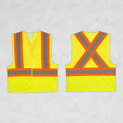 CSA Compliant Traffic Safety Vest Lime Yellow