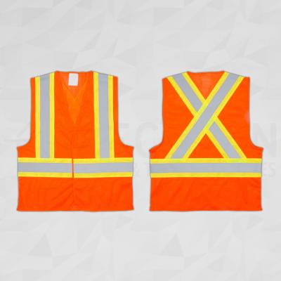 CSA Compliant Traffic Safety Vest Orange
