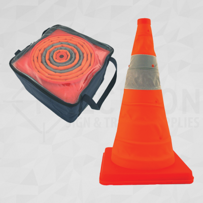 Collapsible Orange 28in Traffic Cone 4 Pack
