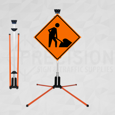 Dual Spring Windmaster Rigid Sign Stand