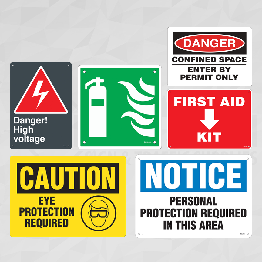 Industrial Workplace Safety Signs