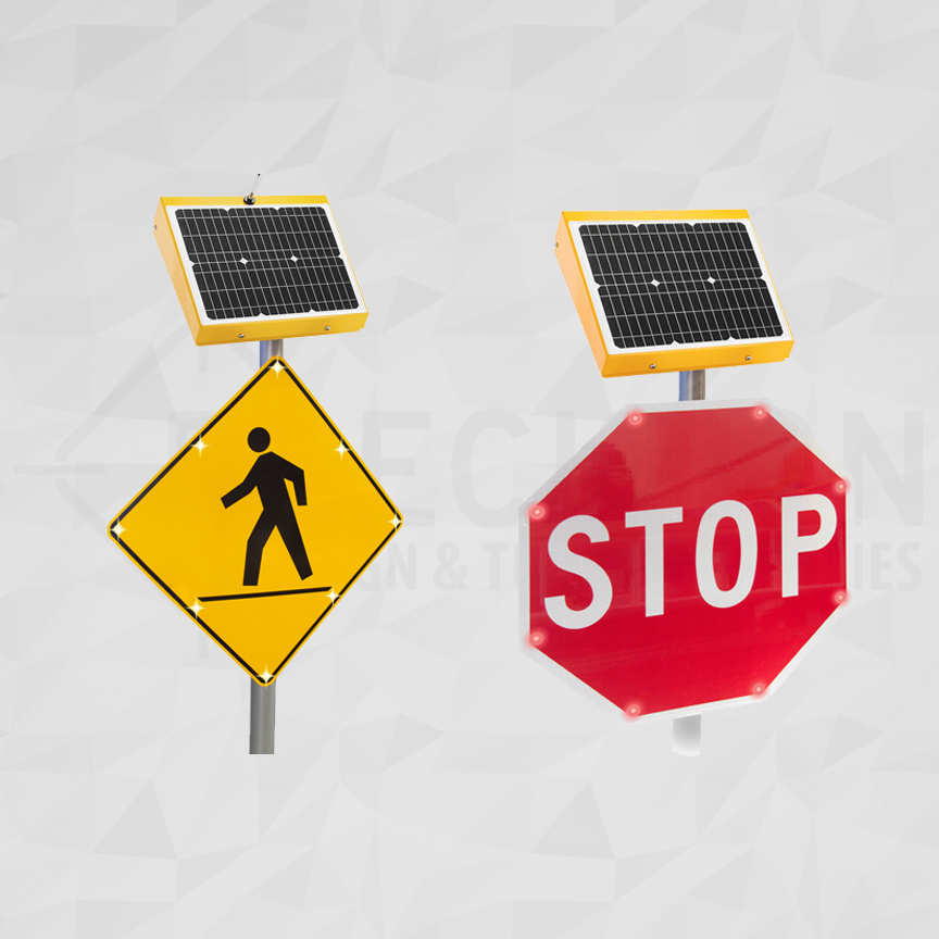 LED Embedded Traffic Signs