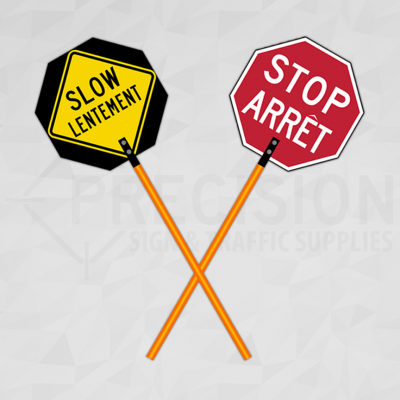 New Brunswick Traffic Control Paddle Bilingual
