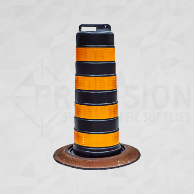 Newfoundland Traffic Drum with Rubber Base