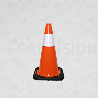 Orange 18in Traffic Cone with 4in Reflective Collar