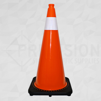 Orange 28in Traffic Cone with 4in Reflective Collar