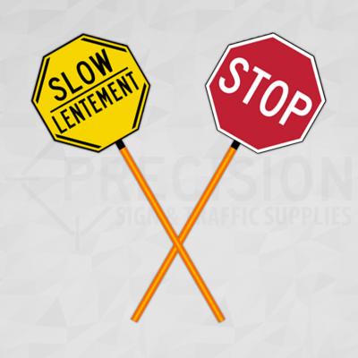 Prince Edward Island Traffic Control Paddle