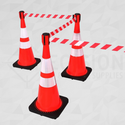 Retractable Cone Top Barrier