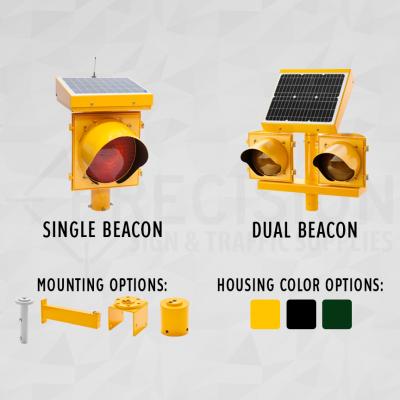Solar Flashing LED Beacons