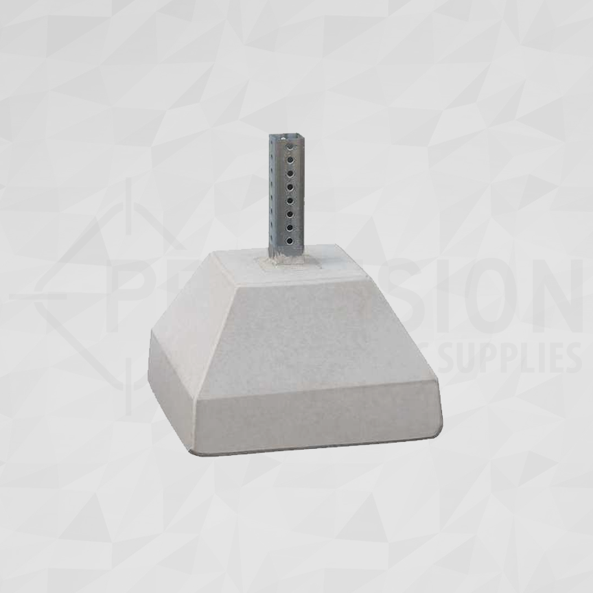 Telespar Square Sign Post Concrete Base