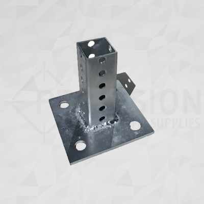 Telespar Square Sign Post Pavement Mounting Plate