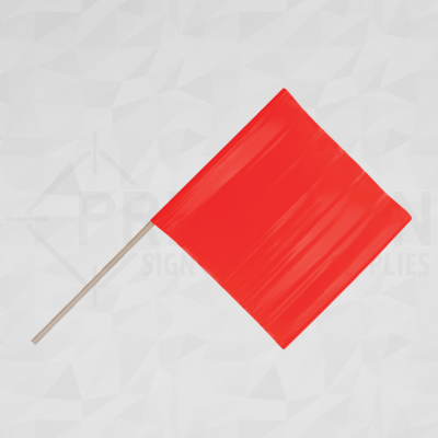 Traffic Safety Flag With Wood Dowel