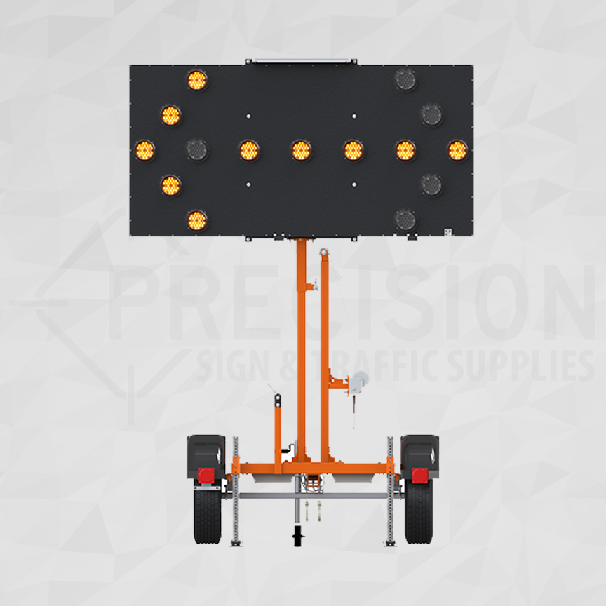 Ver-Mac Trailer Mounted Arrowboard 15 LED Lamps