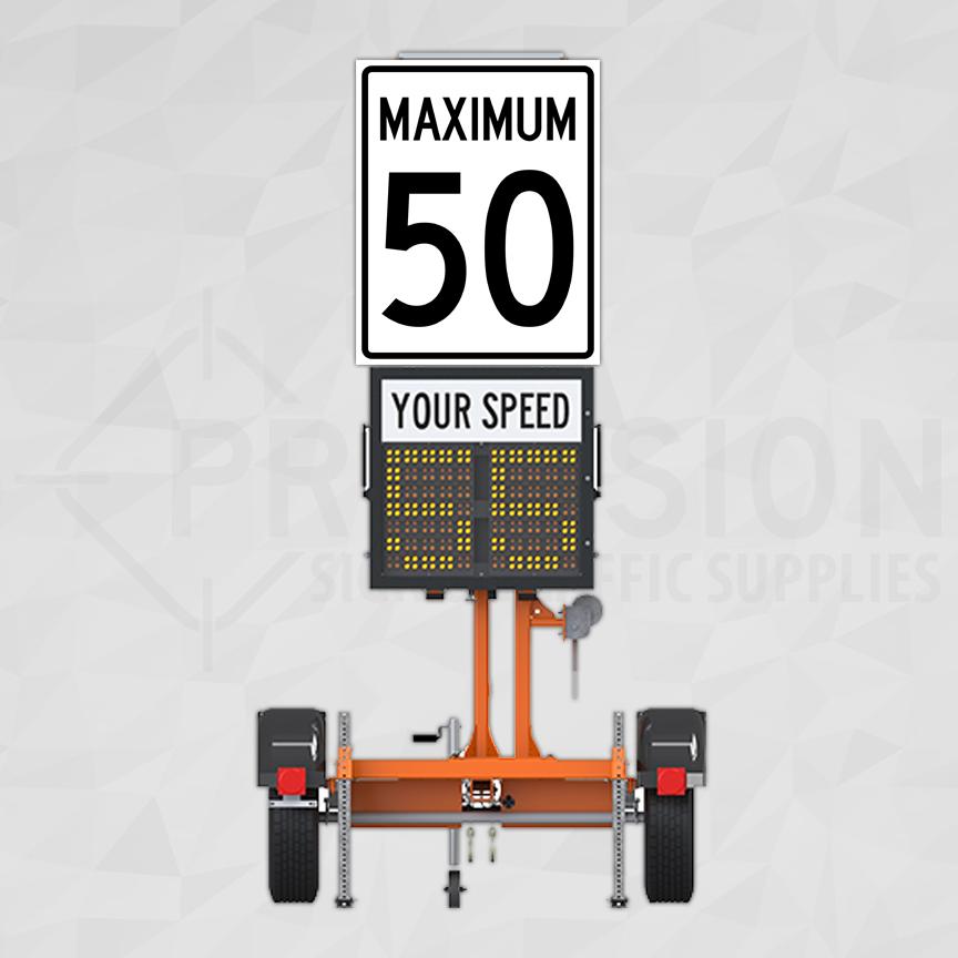 Ver-Mac Trailer Mounted Speed Radar Sign