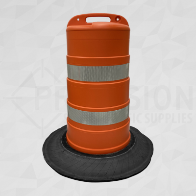 New Brunswick Traffic Drum with Tire Base