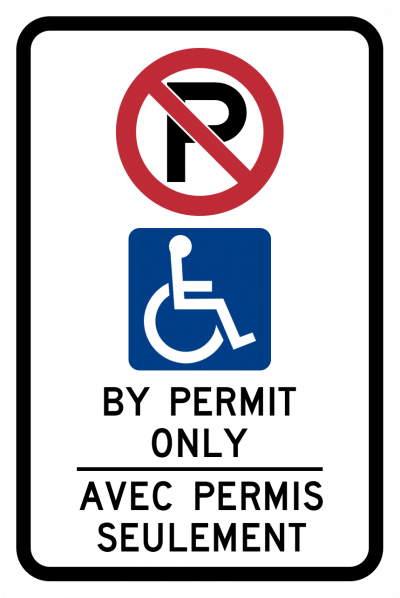 Disabled Parking By Permit Only