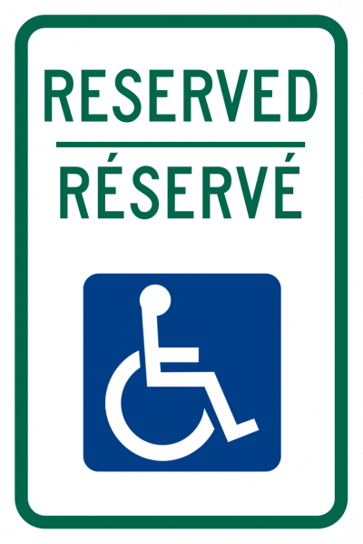 Reserved Parking Disabled