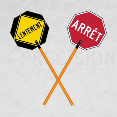 French Traffic Control Paddle