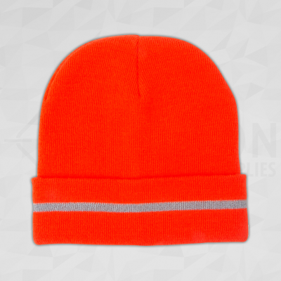High Vis Orange Toque with Reflective Stripe