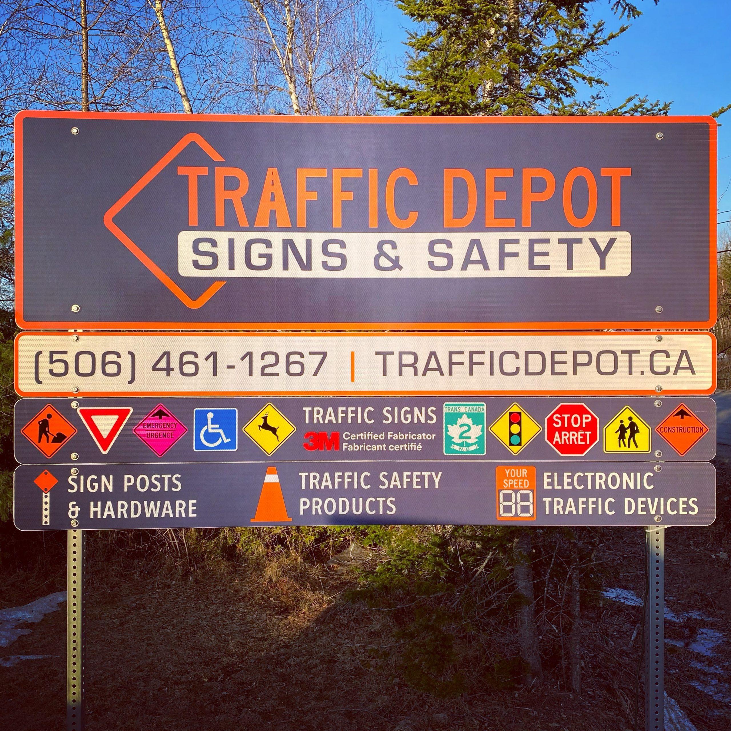 Traffic Depot Road Sign